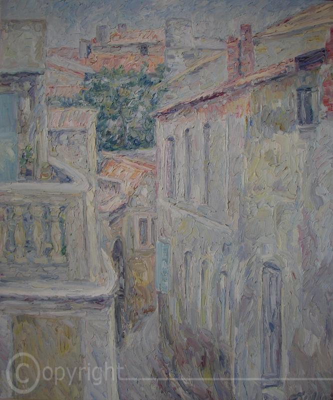 Gasse auf Mykonos 1953