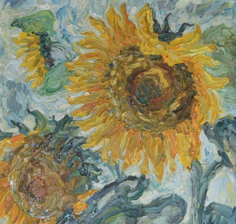 Sonnenblumen Heidelberg 1982