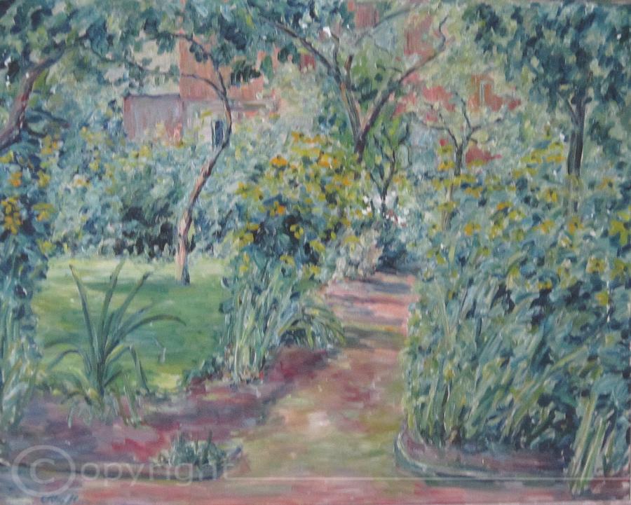 Garten der Eltern meiner Mutter Soest 1964