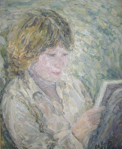 Seine Tochter Katrin in Heidelberg 1981