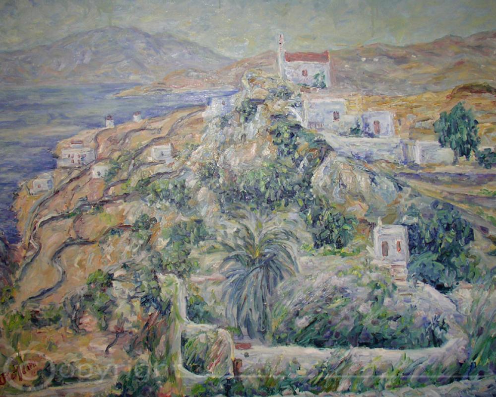 Blick zum Meer Mykonos 1953