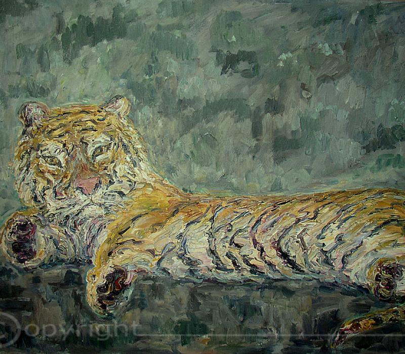 Liegender Tiger 1963