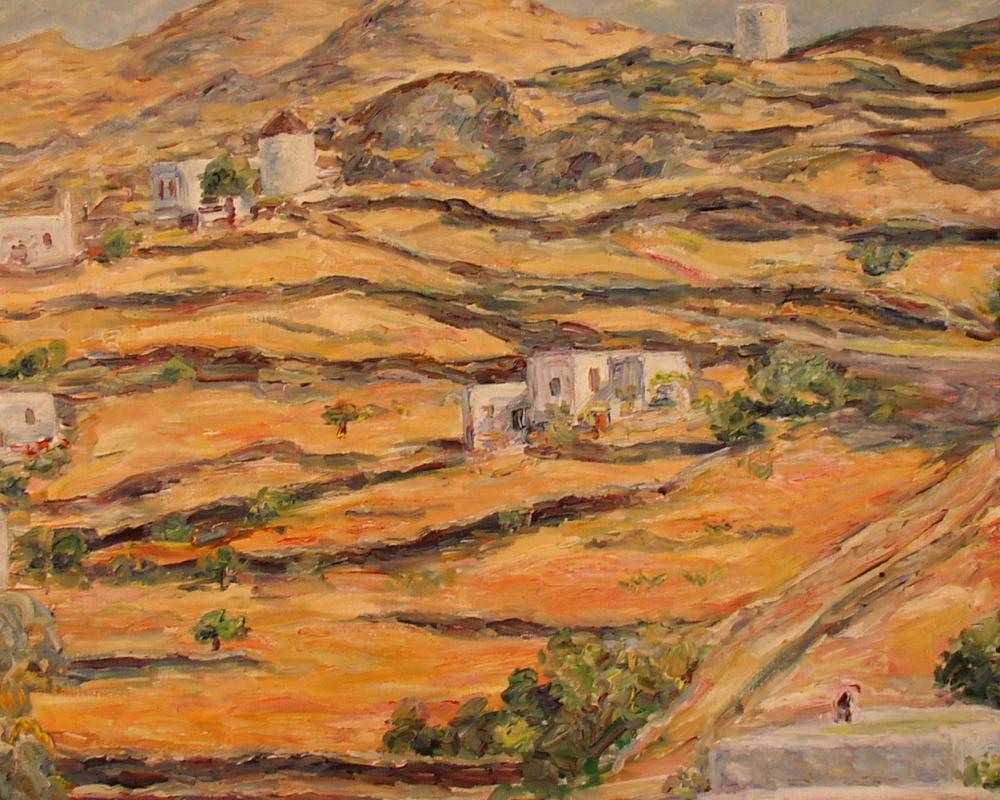 Landschaft  Insel Mykonos 1953