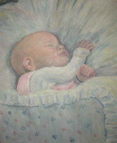Sylvia als Baby in Heidelberg1950